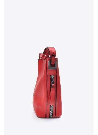 Vizon Ayakkabı Omuz Çantası Kırmızı